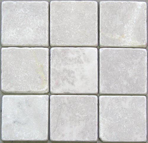 Wandtegels Keuken 10X10 : Getrommeld marmer 10 x 10 white