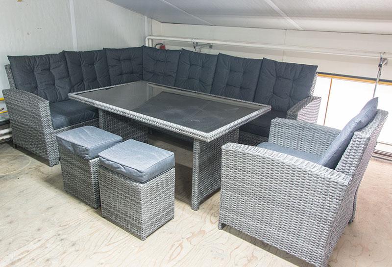 Tuin Loungeset Outlet : Loungeset met hoge tafel wicker loungeset amico delig nl