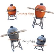 Niet Green Egg keramische barbecue / BBQ maar Orange Egg en Grey Egg